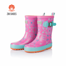 Latest girl footwear design pink rain boots for baby girls