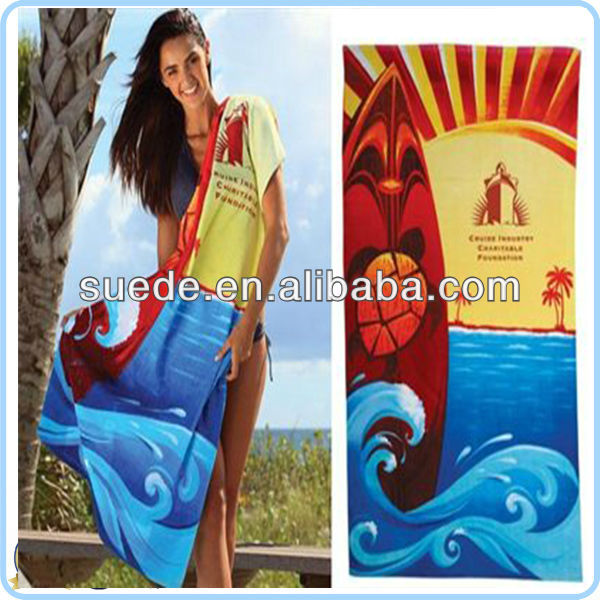 100% microfiber promotion beach towel