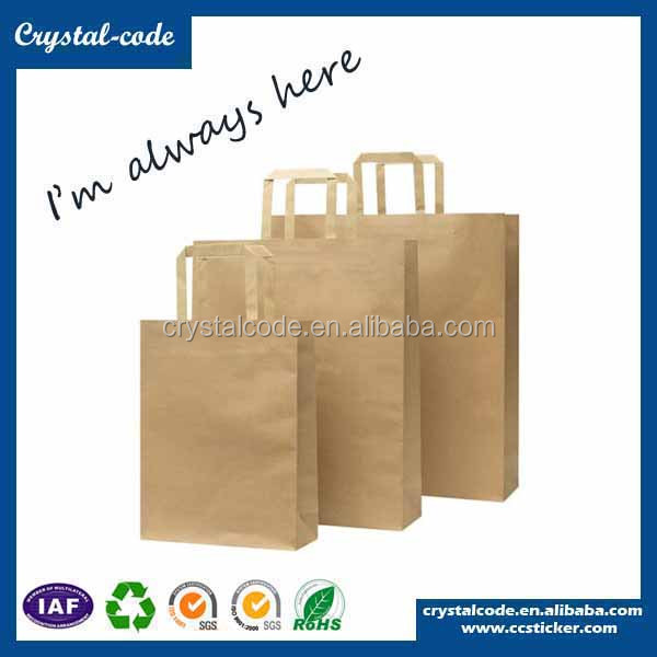 Reusable personalized musical kraft paper bag with window and zipper