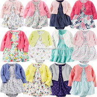 2pcs new summer infant baby girls clothes pretty bodysuit dress