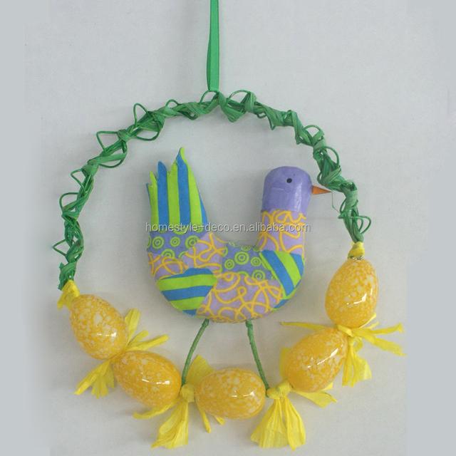 Wholesale easter ornament easter decoration plastic egg wreath