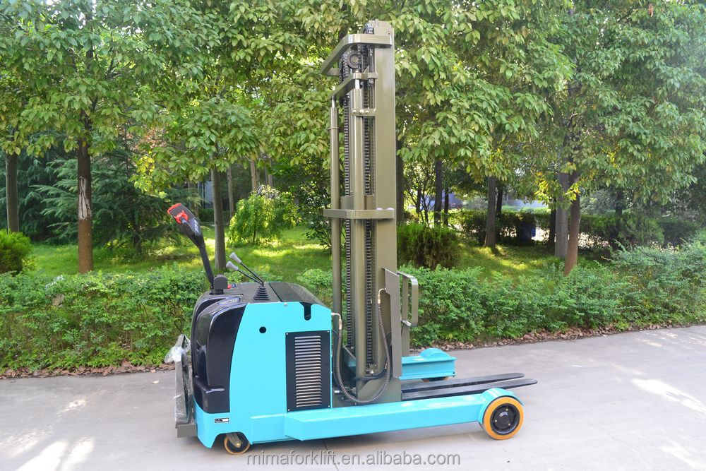 MIMA New electric forklift Electric Reach Stacker Battery operated forklift
