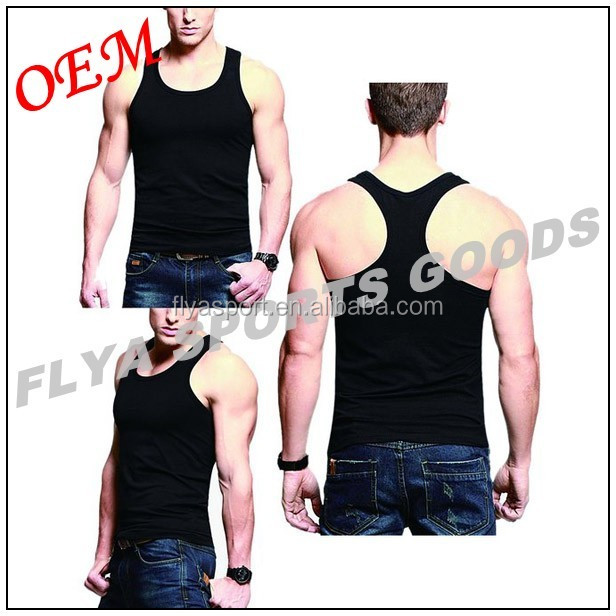 2018 new style stringer men wholesale plain gym tank top