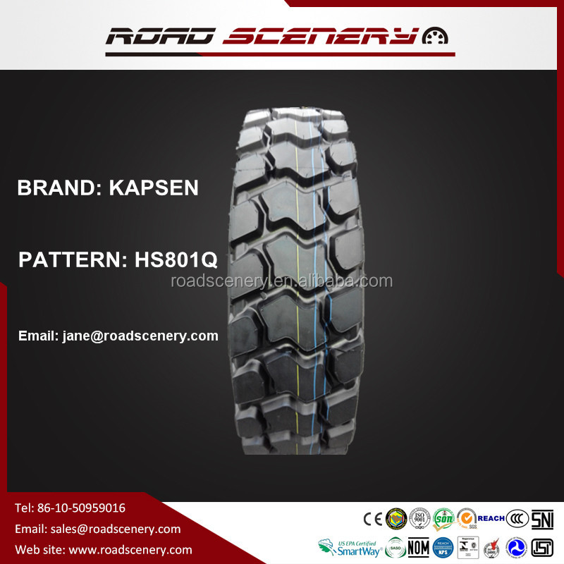 Radial truck tyre 12.00R20 for mine & mountain