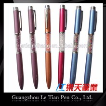 LT-W382 Crystal metal pen,gemstone crystal pen with ring stone