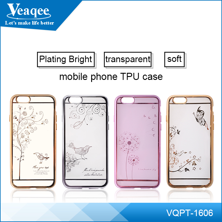 Veaqee hot sell transparent clear slim ultra thin soft tpu case for iphone 6