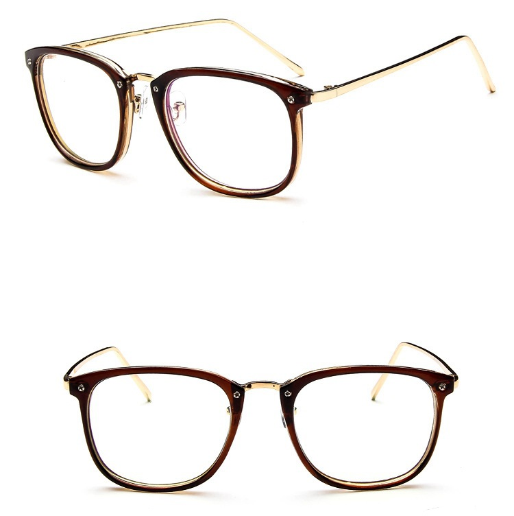 Fashion eyewear repair eyewear frame metal retro eyewear frame female models myopia glasses