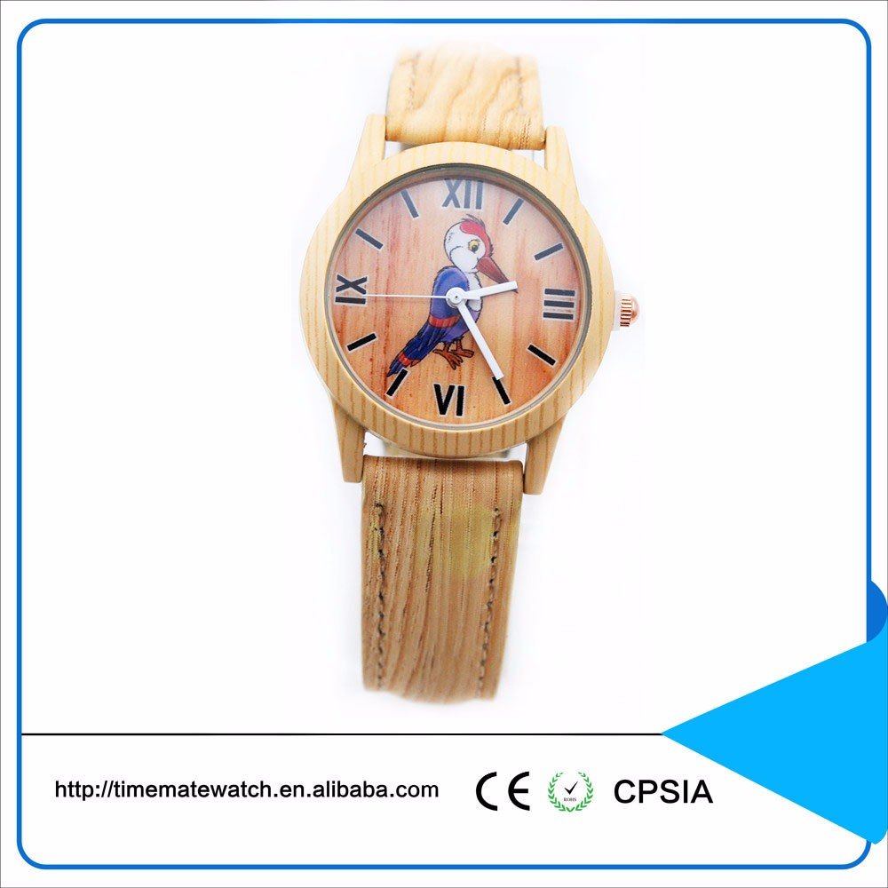 2017 Classical Bamboo Wooden Watch Women Wristwatches High Quality Leather Quartz Watch