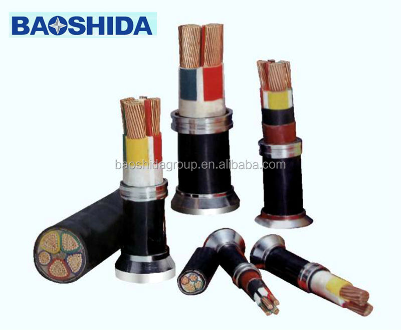Copper Conductor 0.6/1kv Cu/xlpe/pvc/sta/pvc Armored Power Cable
