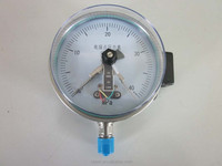 Stainless steel magnetic electric contact pressure gauge
