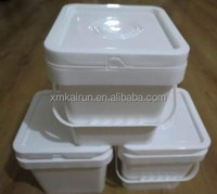 Hot Sale Large Capacity Plastic Ice Cream Container with Lid (Capacity 5L)