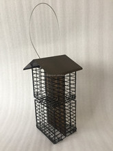 2017 new design 4 room iron net powder coated bird feeder