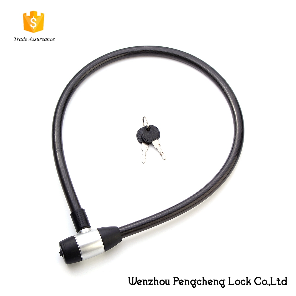 Bicycle/cable/spiral lock made of steel used in e-bike