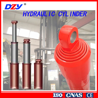double acting dump truck telescopic hydraulic cylinder for press