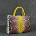 Python snake leather bag_exotic tote bag_fashion lady handbag_luxury exotic lady bag