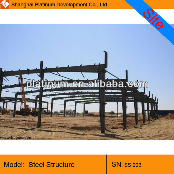 large span warehouse with steel structure