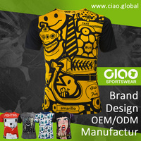 Ciao sportswear - yellow party design dri fit jersey and t shirt