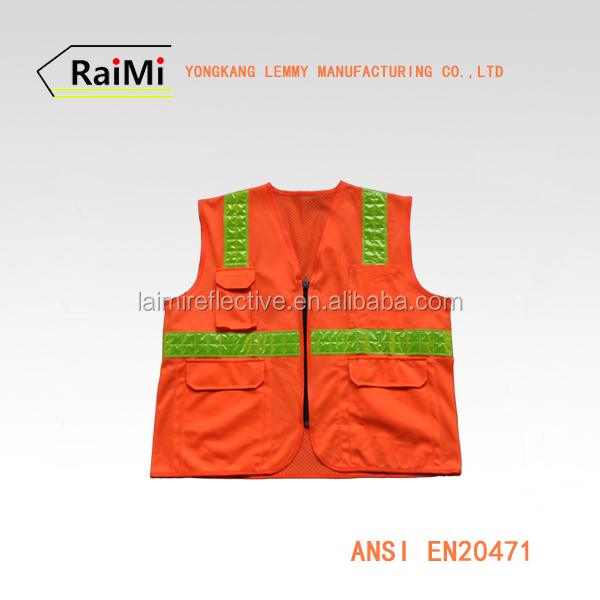 Road Reflective And Working Safety Warning Sleeveless Safety Reflective Clothes