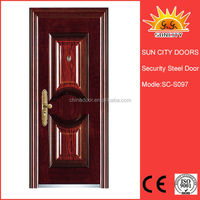 Modern exterior fancy steel door SC-S097