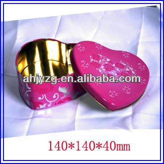 wedding invitation heart shape candy tin box