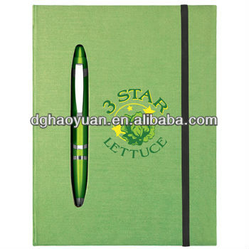 High quality hardcover journal notebooks with diecut pen holder-HYJZ002-DIECUT