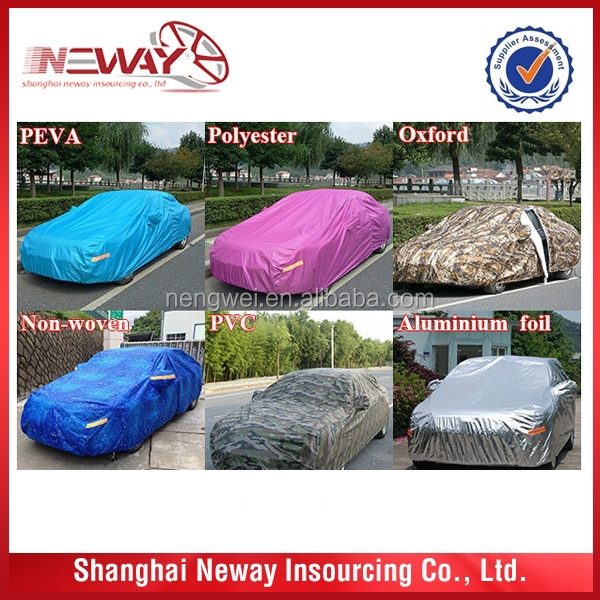 Nonwoven car cover used for UV protection with color card packing