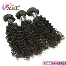 XBL Hot Sale 8A Grade Chemical Free double drawn remy hair weft