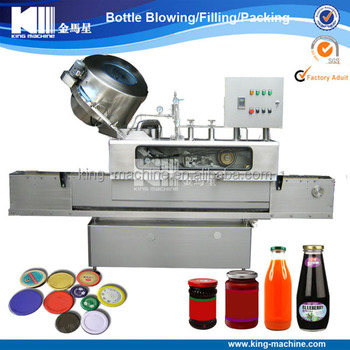 Automatic juice glass bottle twist off capping machine