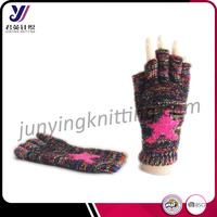 Half finger winter woolen felt knitted gloves factory wholesale sales (accept custom)