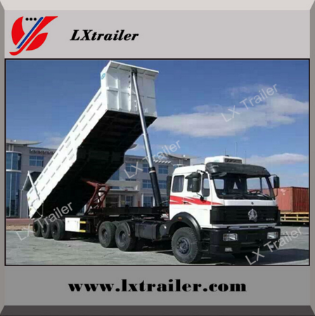 U Style 3 Cheap Soil Containing Waste Matter Transporting Vehicles dump truck ,dump trailers