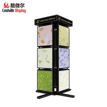 Porcelain Tile Rotating Display Racks Metal Display Stands