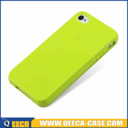 Top quality plain candy color jelly tpu case for iphone 4 5 6