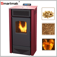 European style cheap wood pellet stove with 9kw