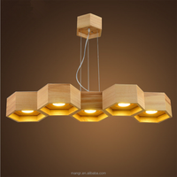 Pendant-Light-MG-1420 Modern Wooden Pendant lamp Chandelier Hanging Lighting with Wood Materials LED Down Light