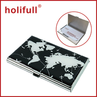 black with white color mape design Steel Business Card Case for Men & Women Keep Business Cards in Immaculate Condition