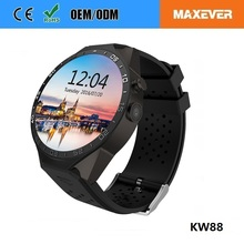 High Quality Kingwear GPS WIFI 3G WCDMA Quad-band Android 5.1 Smart Watch Phone