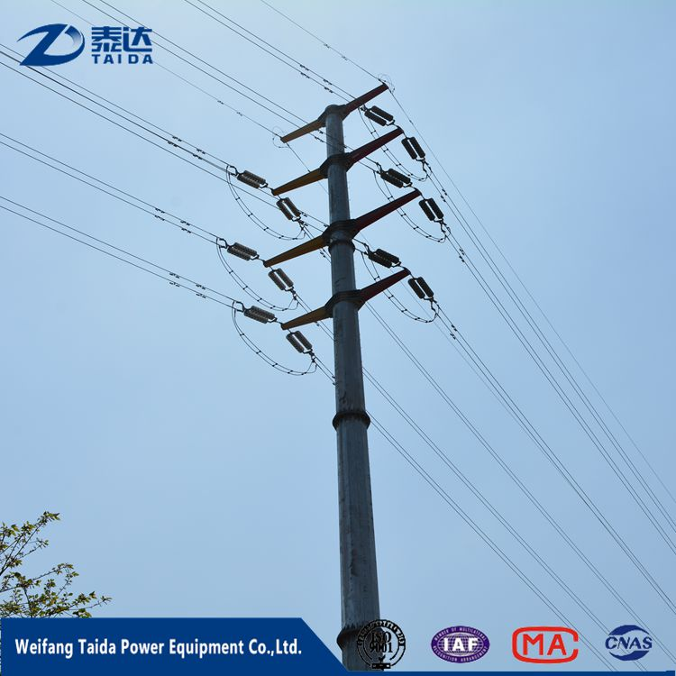 Electrical Equipment Supplies Galvanized Polygonal 220kV
