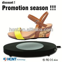 new invention ! magnetic levitating led display stand for shoe woman,high ankle dress shoes men