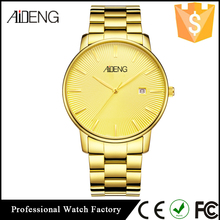 Custom Logo Brand High Quality Mens Watch with Golden Case Stainless Steel ,Hot sale brand waterproof
