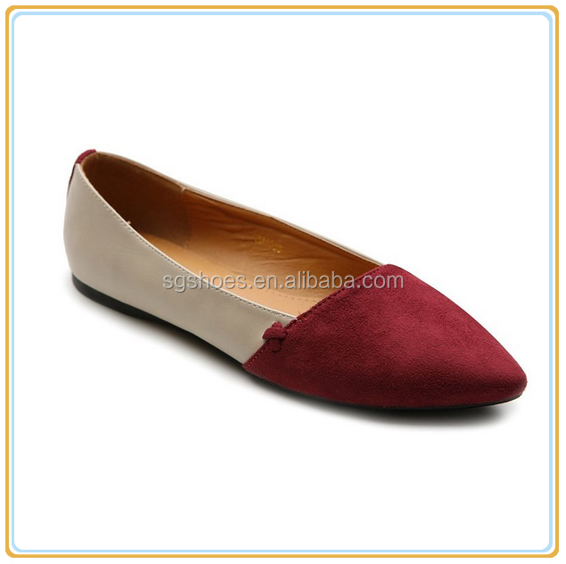 HOT!! Women Ballet Shoe Pointed Toe Comfort Two tone Multi Color Flat shoes