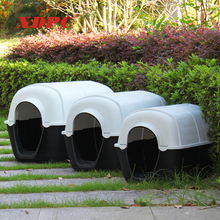 Manufacturer wholesale outdoor plastic large pet dog cage box kennel house