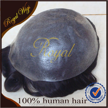 China Supplier Wholesale Natural look Cheap 100% Human Hairpiece Toupee