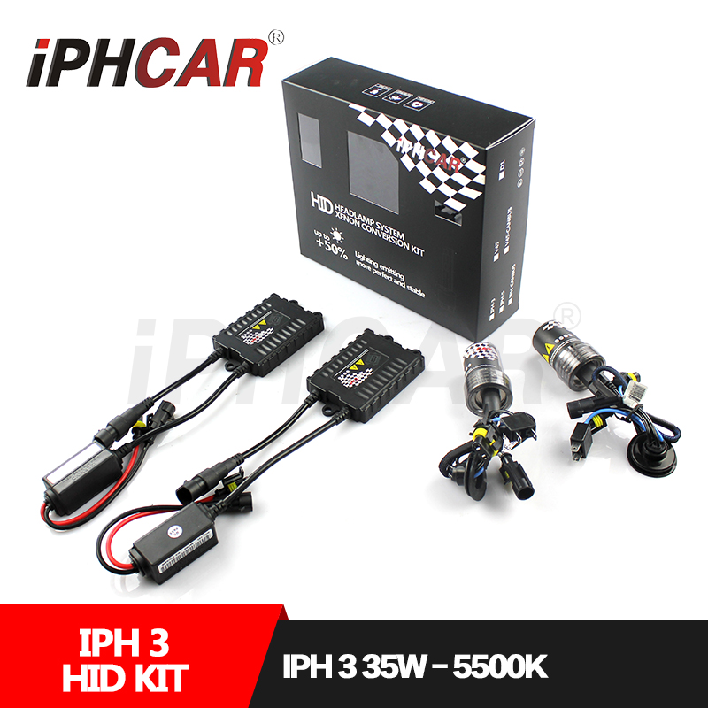 HID Kit Mini Slim Bixenon AC Ballast Kit Guangzhou Factory H1 H3 H7 H8 H11 9005 9006 12V/35W AC Bulb Car Headlight Kit Car