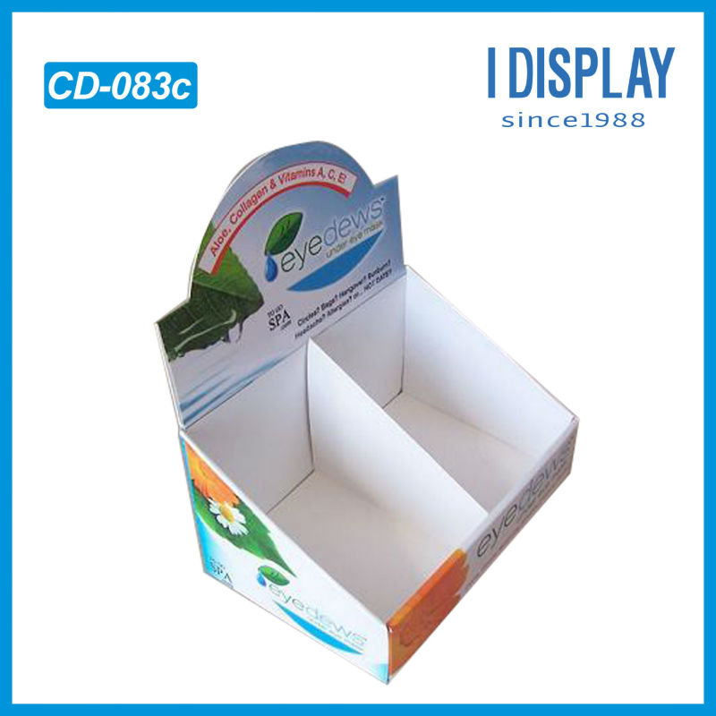 POP/POS small cardboard counter display stands for eye dews