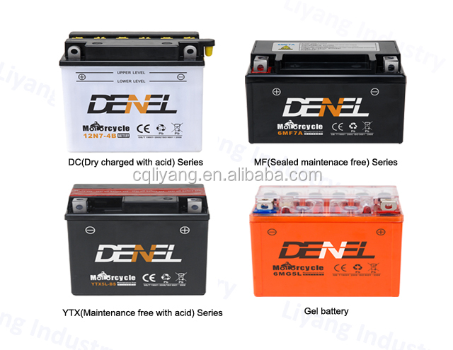 YTX9A-BS recharge long life battery with acid