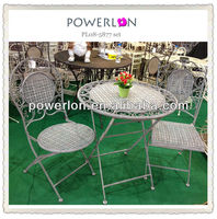 water-proof folding metal cafe bistro furniture
