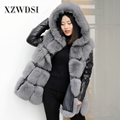 CX-G-A-128 New Fashion Sleeveless Outerwear Lady Winter Real Fox Fur Vest Women