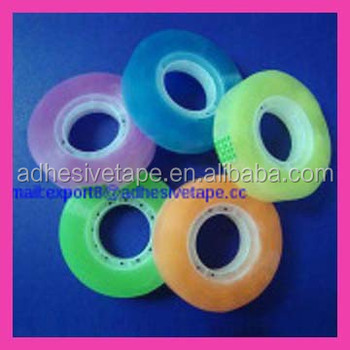 Color Bopp Film Acrylic Material Adhesive Stationery Tape