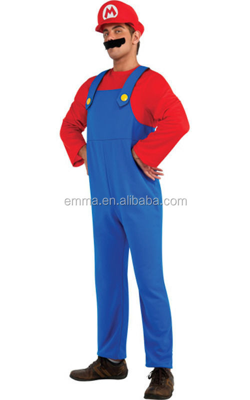 Fashion halloween party funny red super mario mascot costume BMG8071