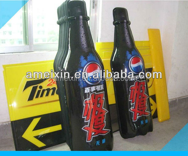 OEM design Vacuum forming thermoforming for Bottle Shape <strong>Advertising</strong>